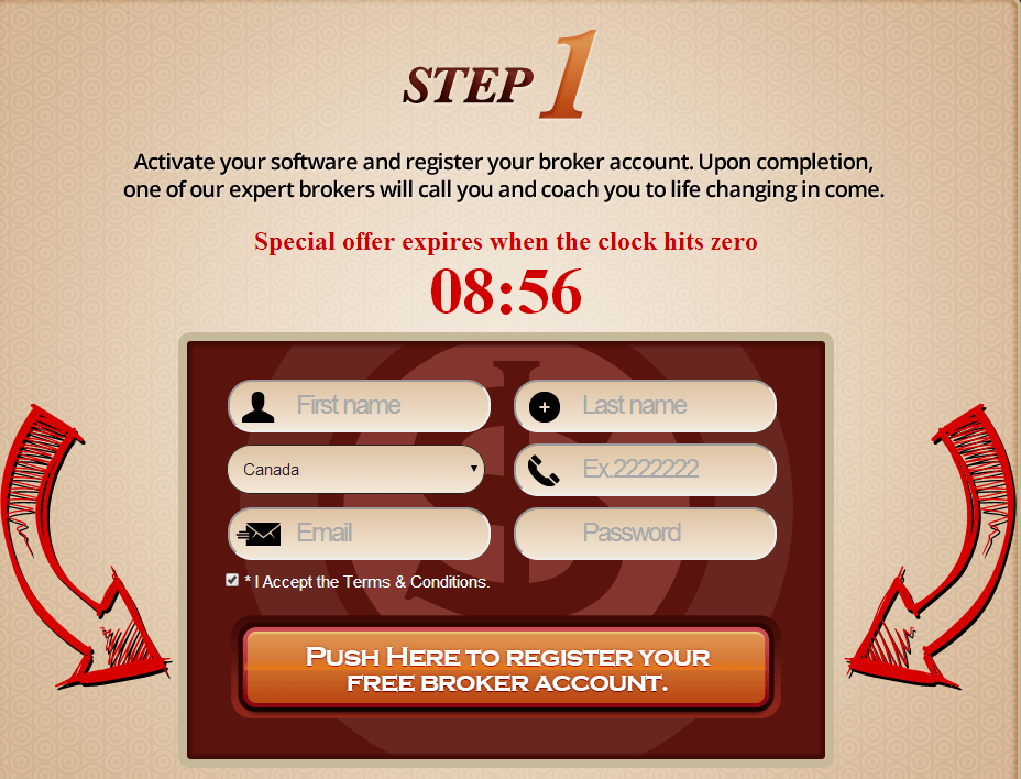 broker signup step