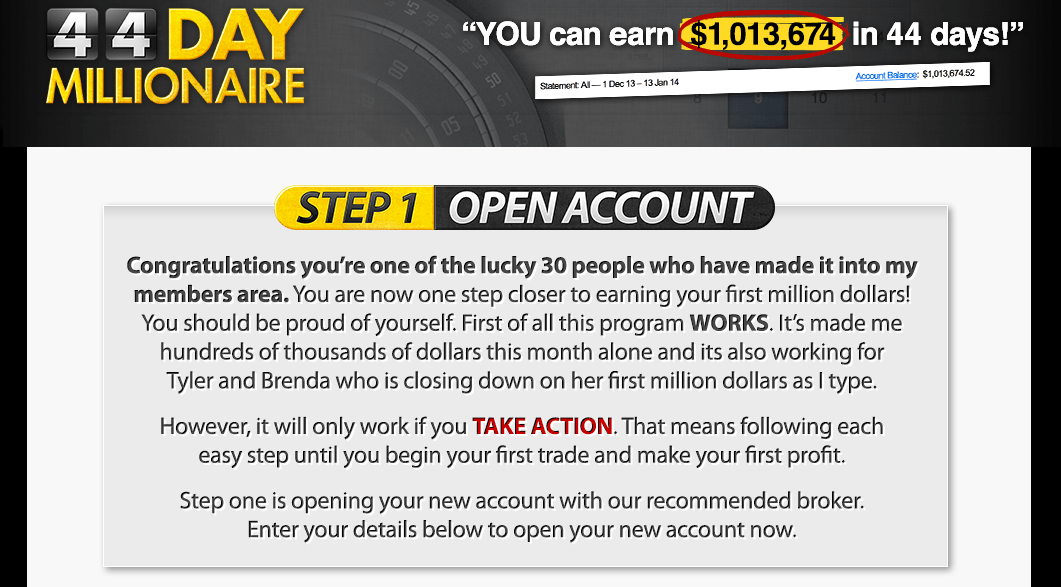 Become a millionaire with binary options