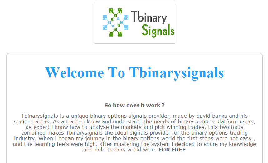 Binary signals for forex only