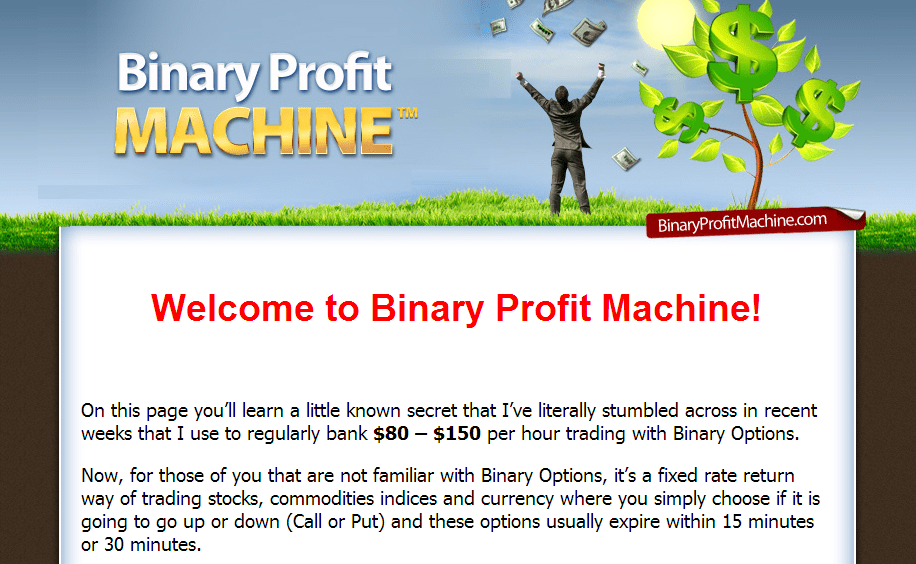 binary profit machine