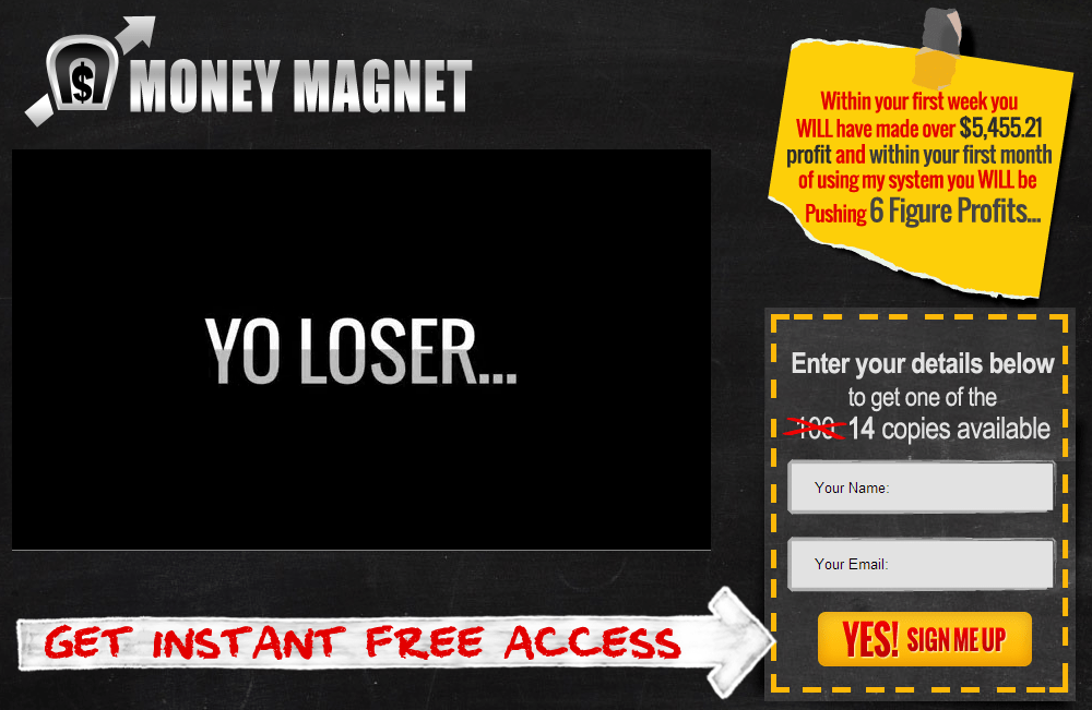 binary options magnet scams