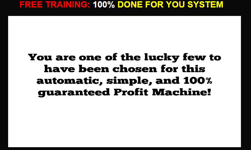 100 percent profit machine