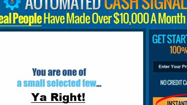 automated cash signals