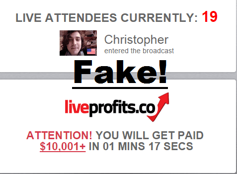fake attendees