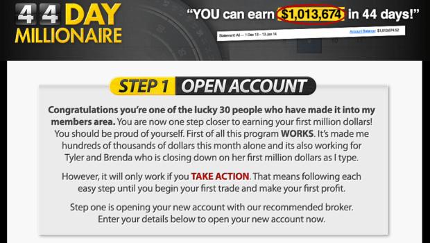 Millionaire through binary options