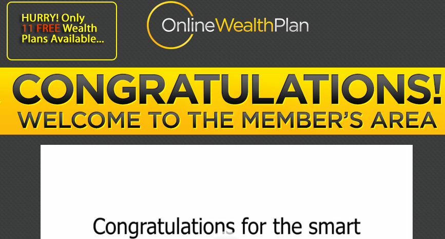 online wealth plan