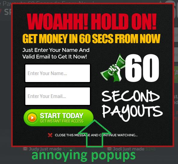 annoying popups