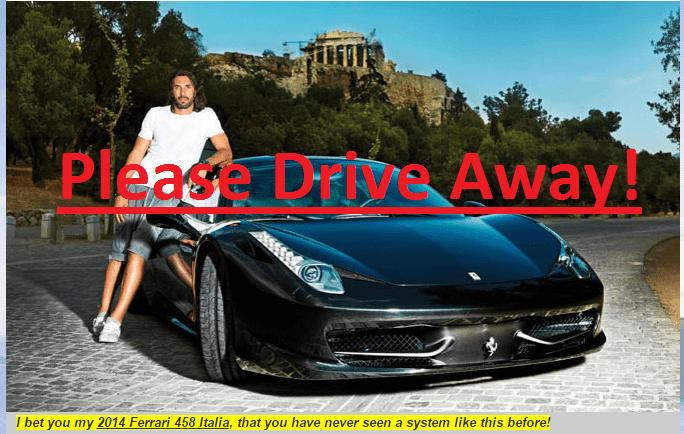 please drive away