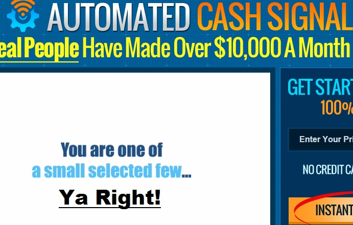 automated cash signals