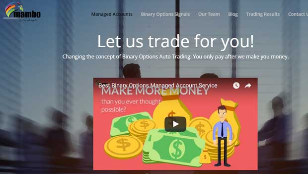 Binary options managed account service