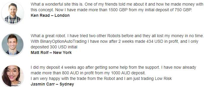 Binary option testimonials