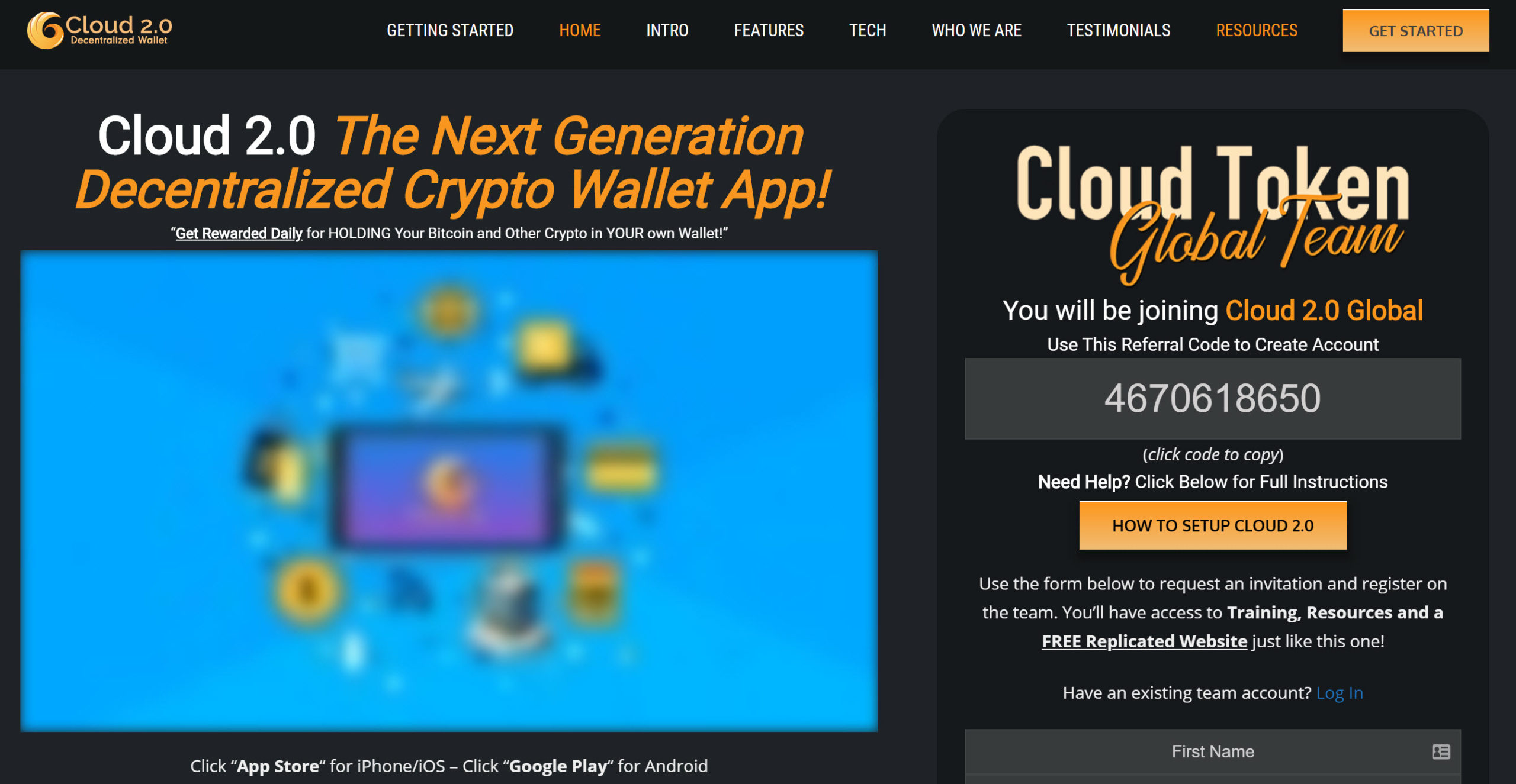 Cloud Token Wallet
